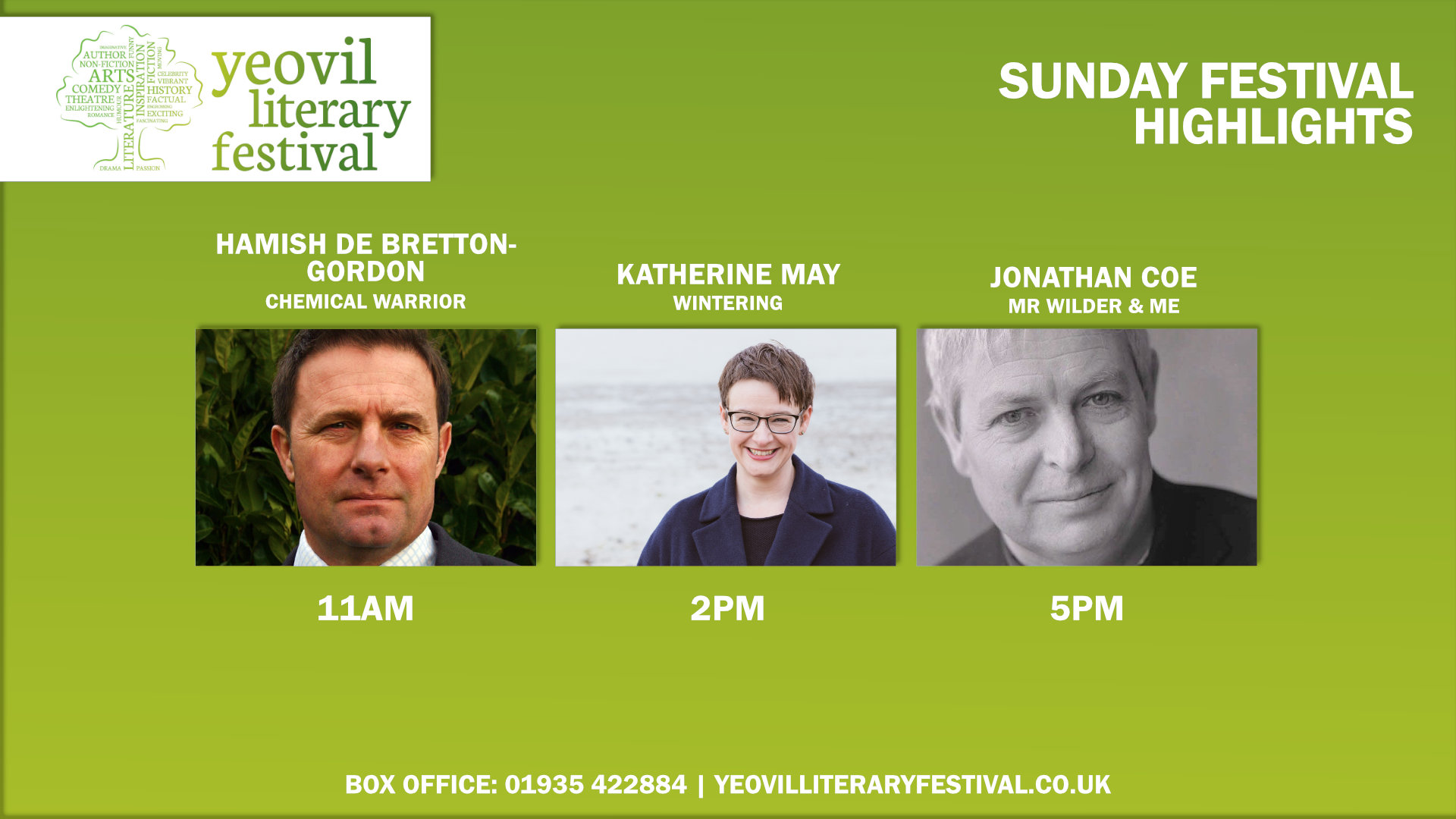 Yeovil Literary Festival - Sunday Festival Highlights